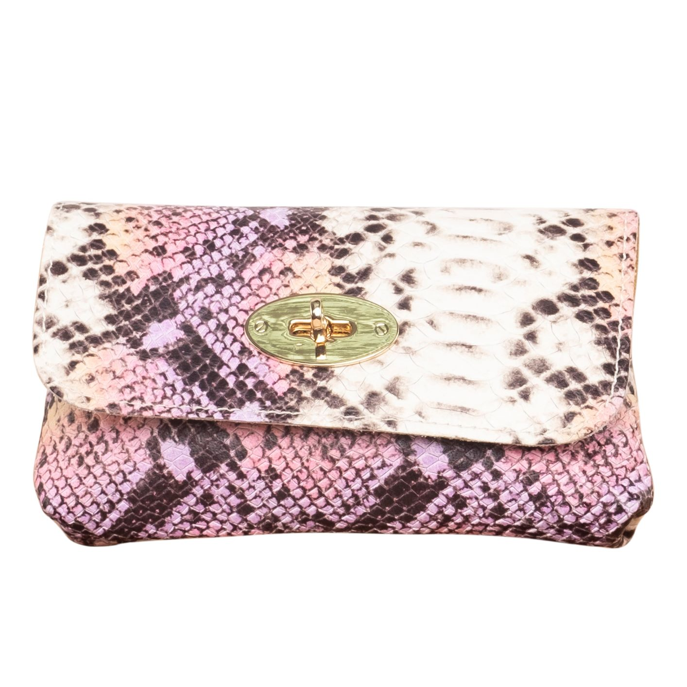 SUAVE SNAKES PRINT LEATHER CLUTCH ( PRINTED )