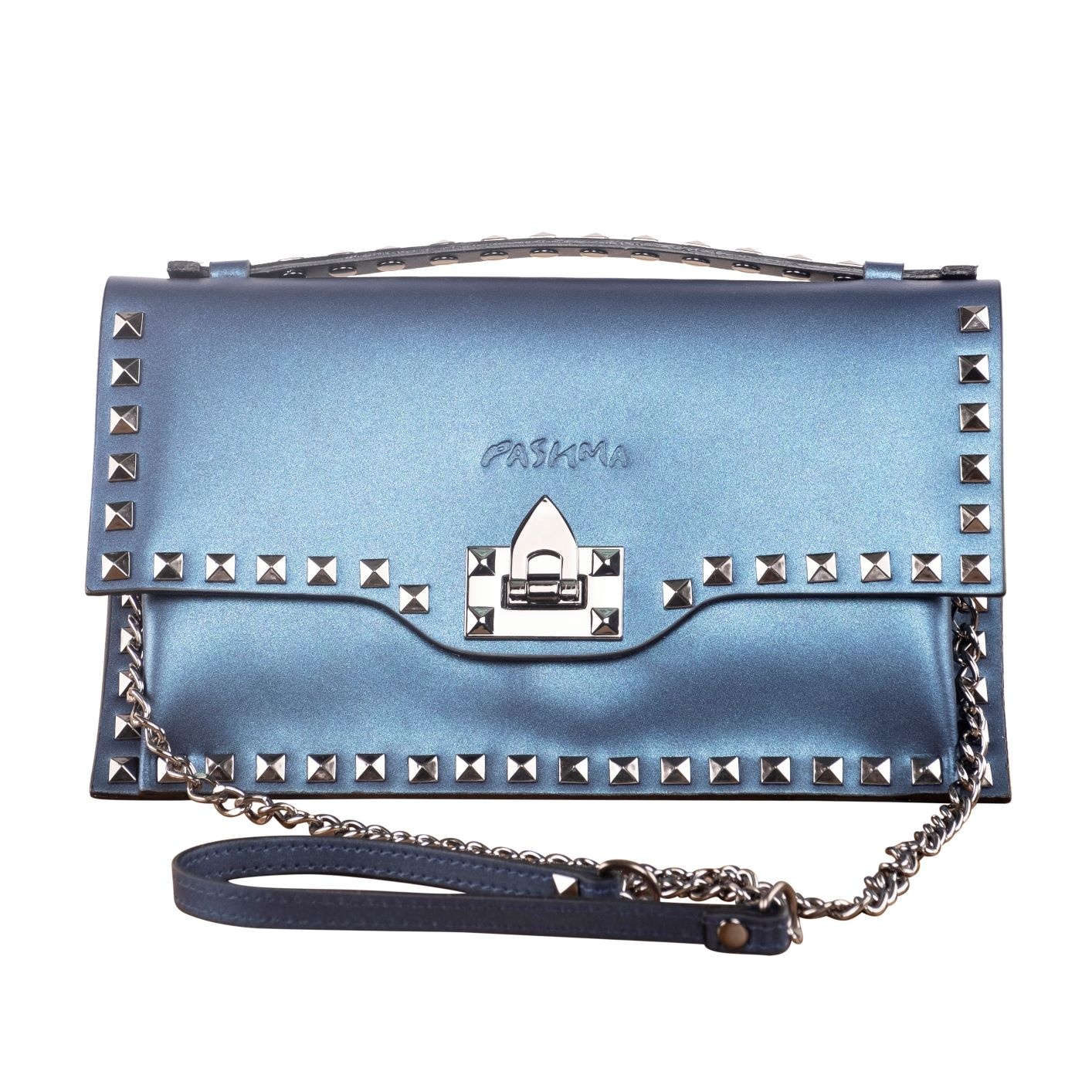 PARTY READY SLING BAG ( METALLIC BLUE )