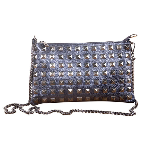 STARRY NIGHTS LEATHER CLUTCH ( BLUE )