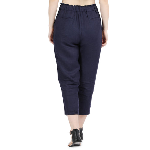 Navy Tapered Pants