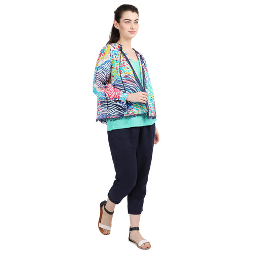 Abstract Cardigan Top
