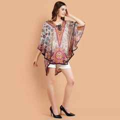 Pashma Smart  Short Multi Color Kaftan for fresh summer fashion