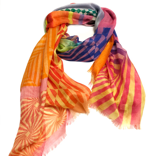 Infinite perceptional colour illusions scarf