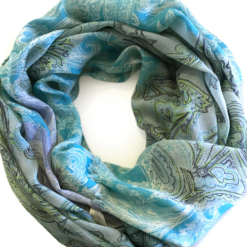 The Blues Paisely Scarf