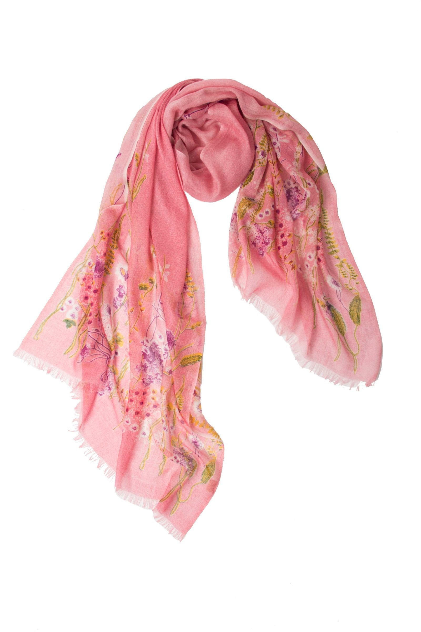 Pink Bloom Floral Scarf