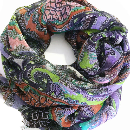 Classic French Paisely Scarf