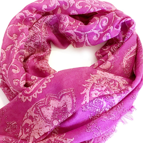 Subtle Paisely Printed Scarf