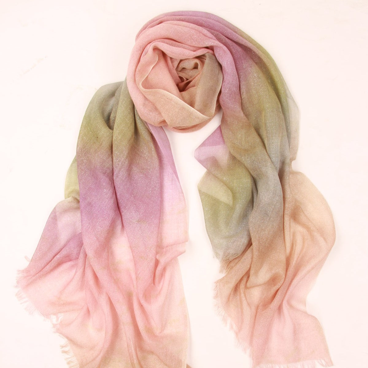 Lavender Blush Degrade Scarf in Silk and Cashmere
