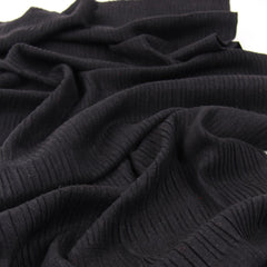 Basic Ribbed Scarf in Silk, Wool and Cashmere (Grey)