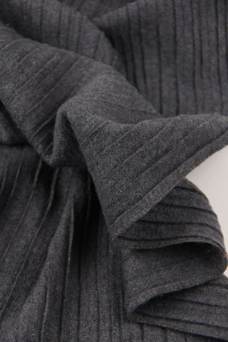 Pleated Grey Scarf