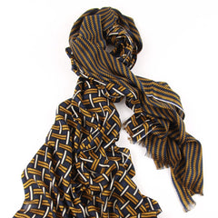 Twisted Knot Scarf in Silk, Wool and Cashmere