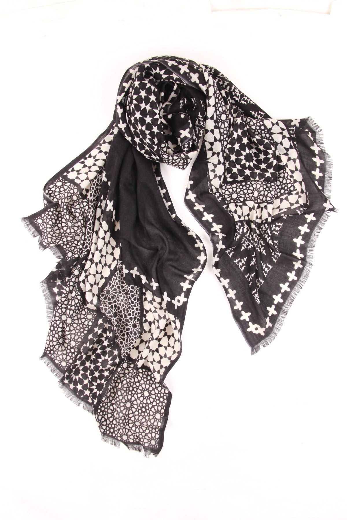 Cultural Drift Printed Scarf in Cashmere and Silk