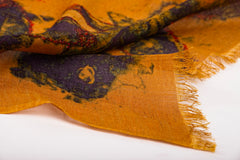 Fallen Leaves of the Pond Scarf in Silk and Cashmere ( Yellow )