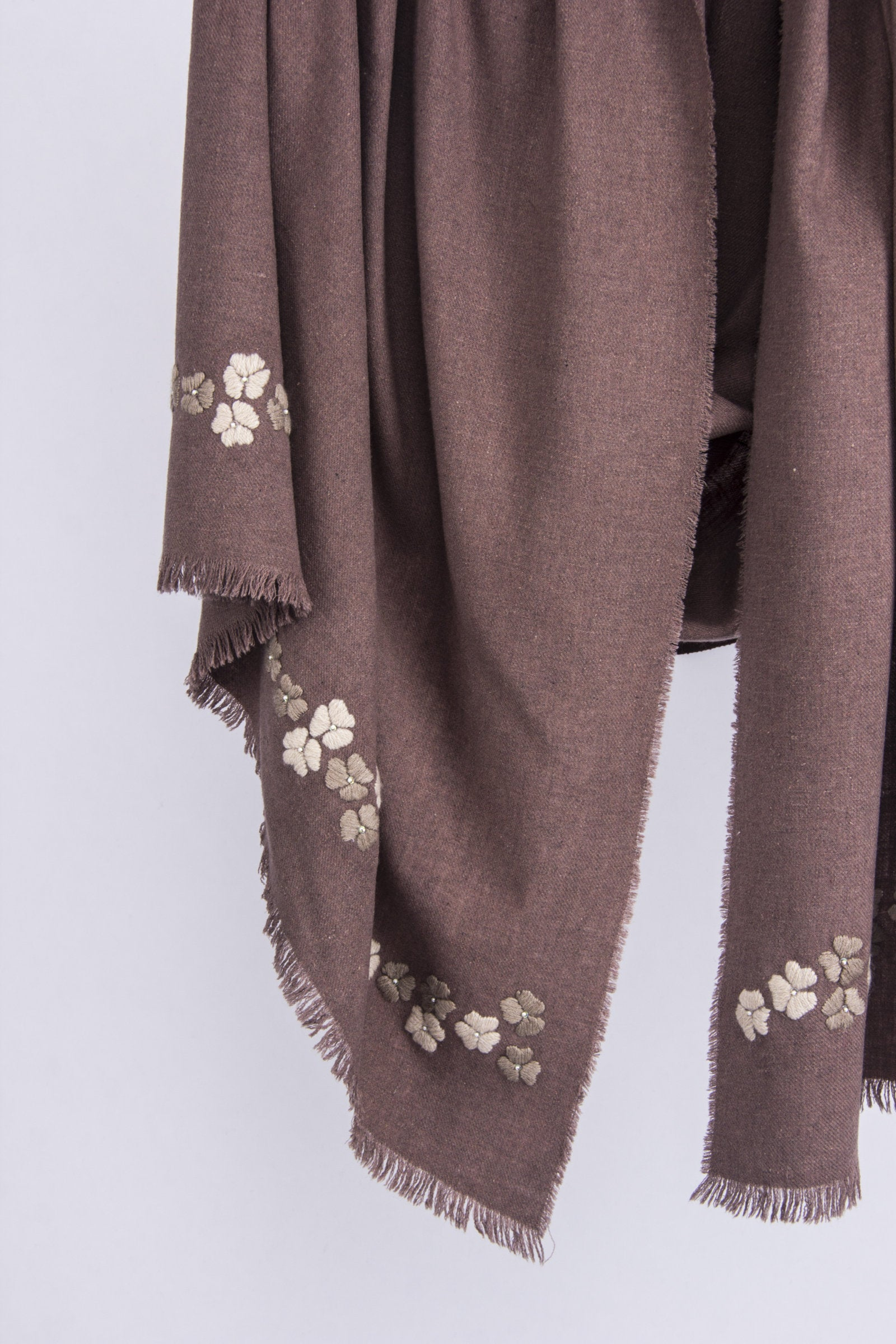 PASHMA CASHMERE EMBROIDERY KATERINA FLOWERS SCARF