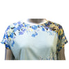 Blue Floral Luxury T-Shirt