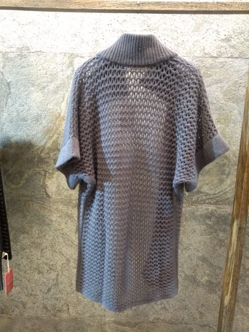 Pashma Knitted Poncho crafted in pure Cashmere