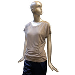 Cloud Grey Silk Jersey T-Shirt