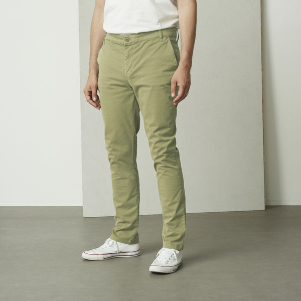 SUIT Gaston Chino pants slim Pants 2886 Sage Green