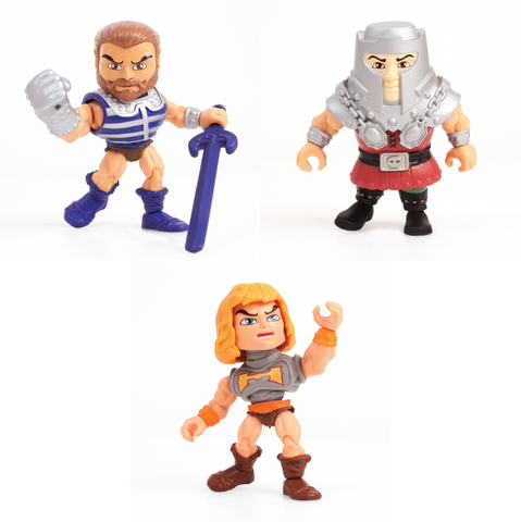 Masters of The Universe Wave 2 Action Vinyls (Heroic Warriors Pack of 3)
