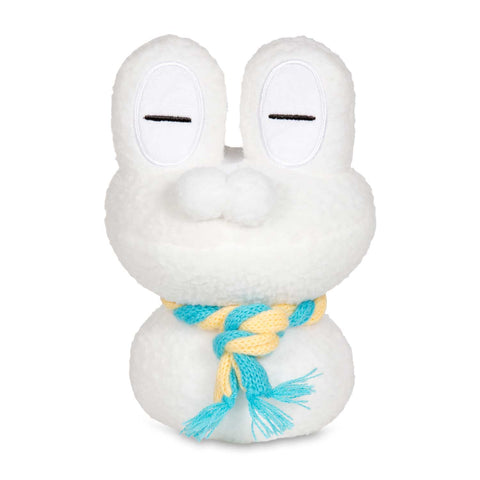 Snowman Froakie Plush from Pokemon Center