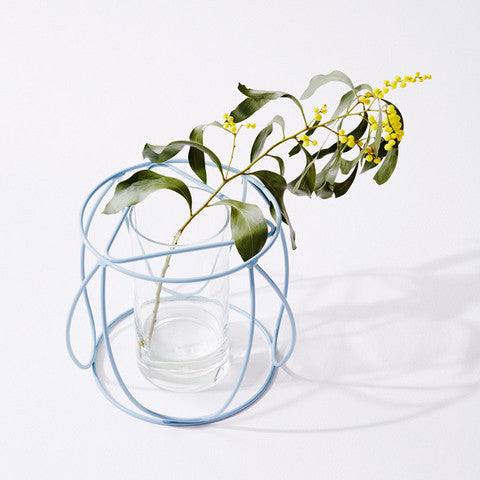 IVY MUSE BUTTON PLANT STAND IN SKY BLUE