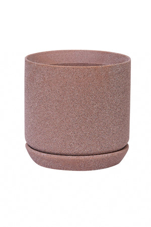Stoneware Planter - Textured Rose