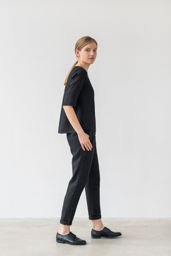 Frances top in black - Ode to Sunday