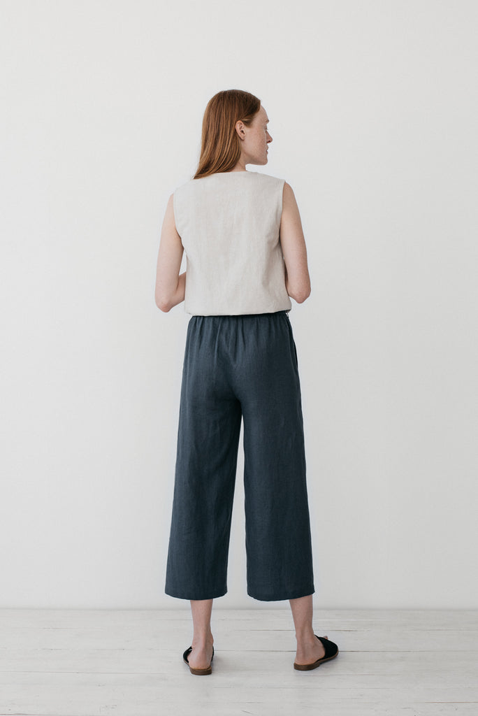 Camilla pants in charcoal gray - Ode to Sunday