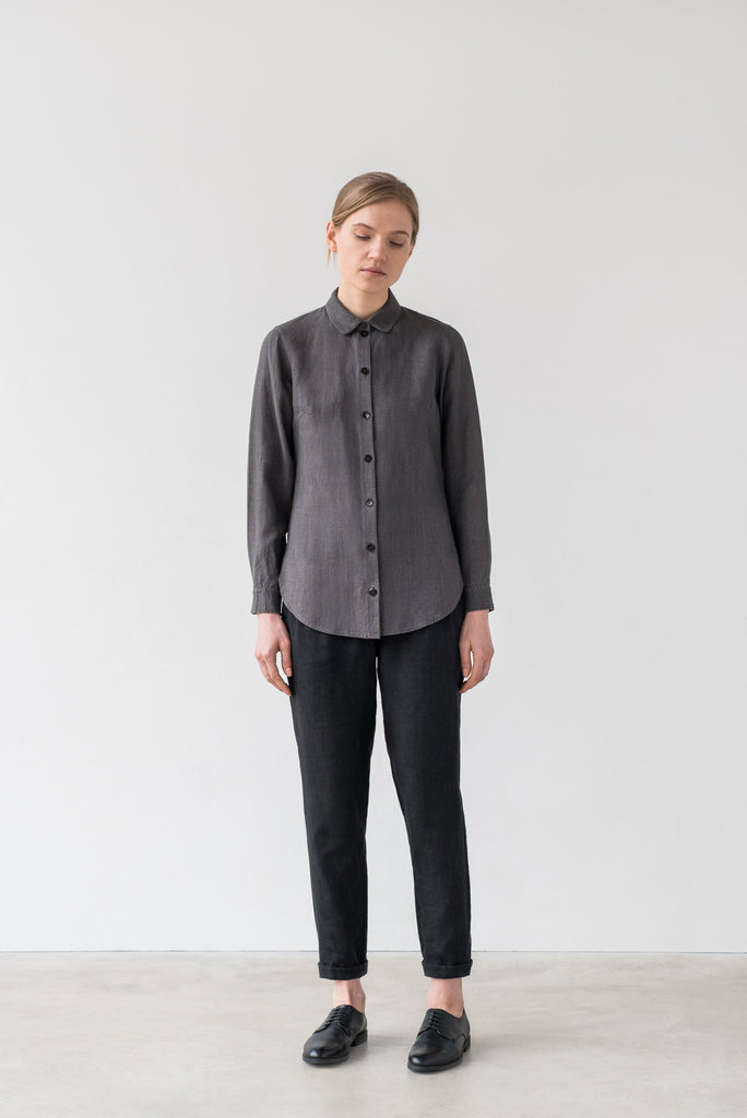 Naomi shirt in charcoal gray - Ode to Sunday