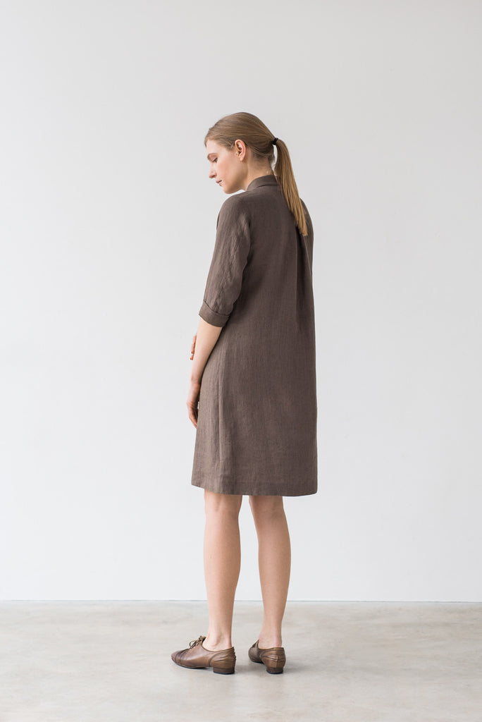 Emily dress in brown