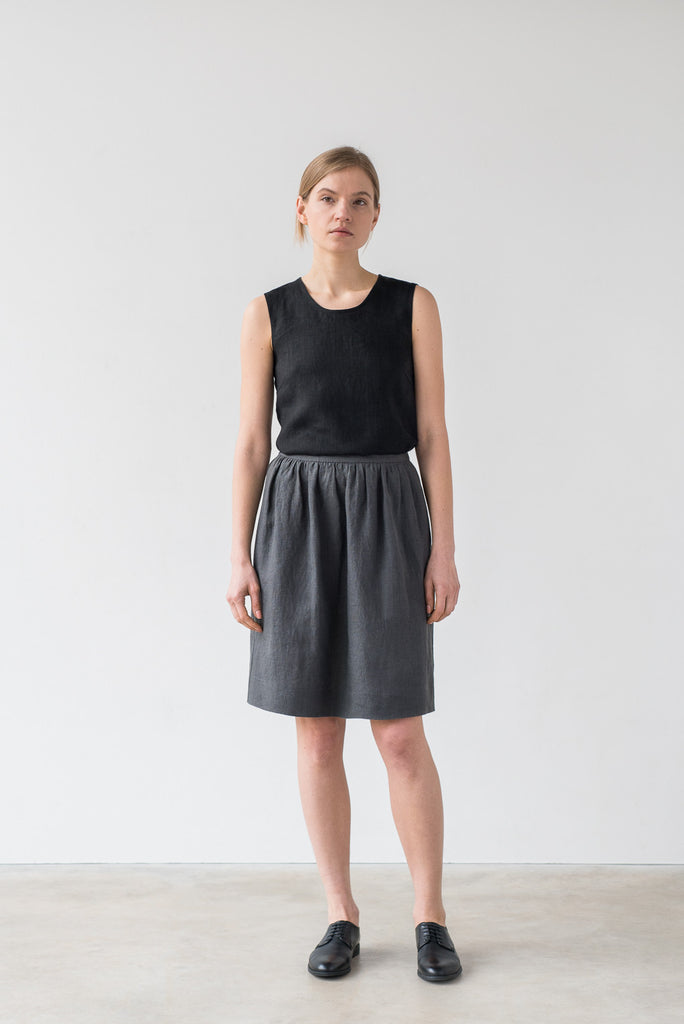 Ofelia skirt in charcoal gray - Ode to Sunday