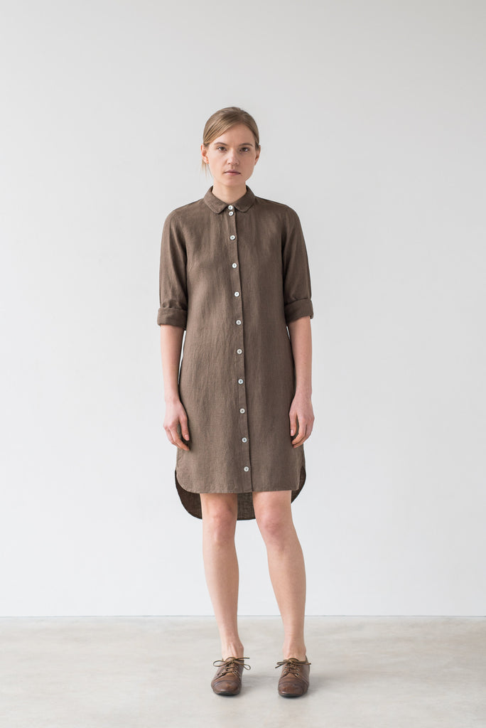 Ida shirt dress in brown - Ode to Sunday