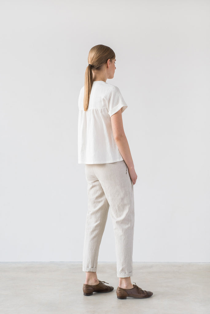 Yasmin blouse in white - Ode to Sunday