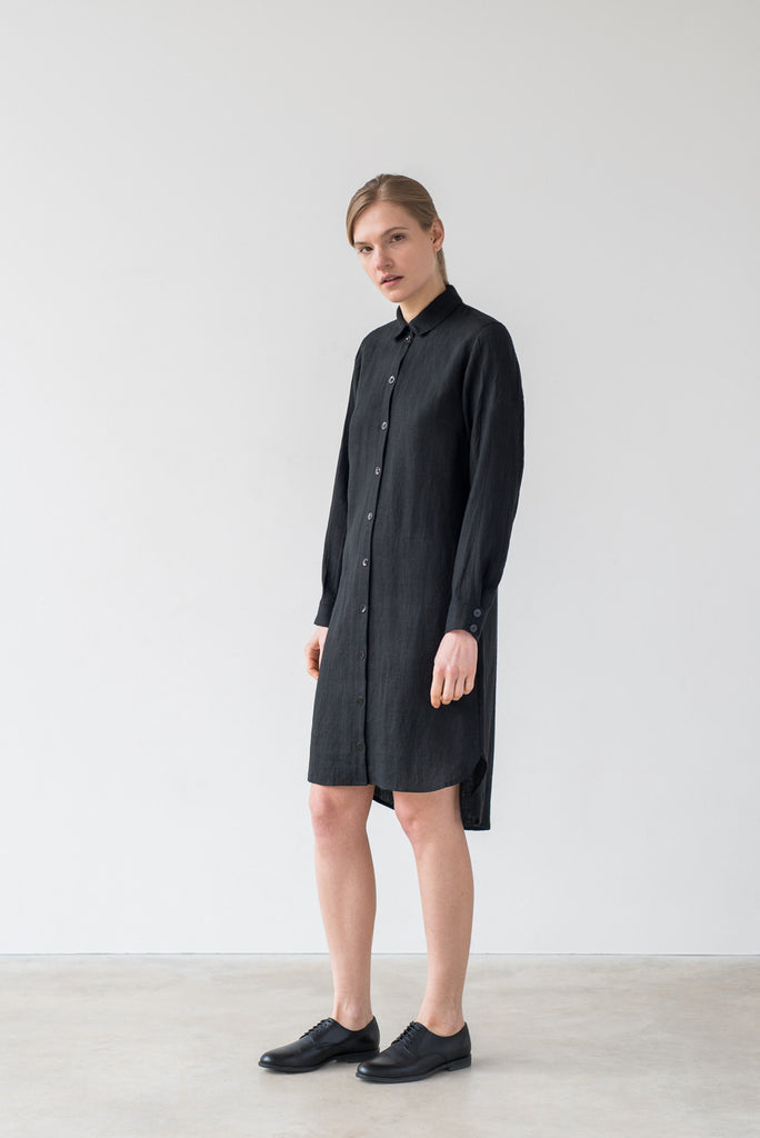 Ida shirt dress in black - Ode to Sunday