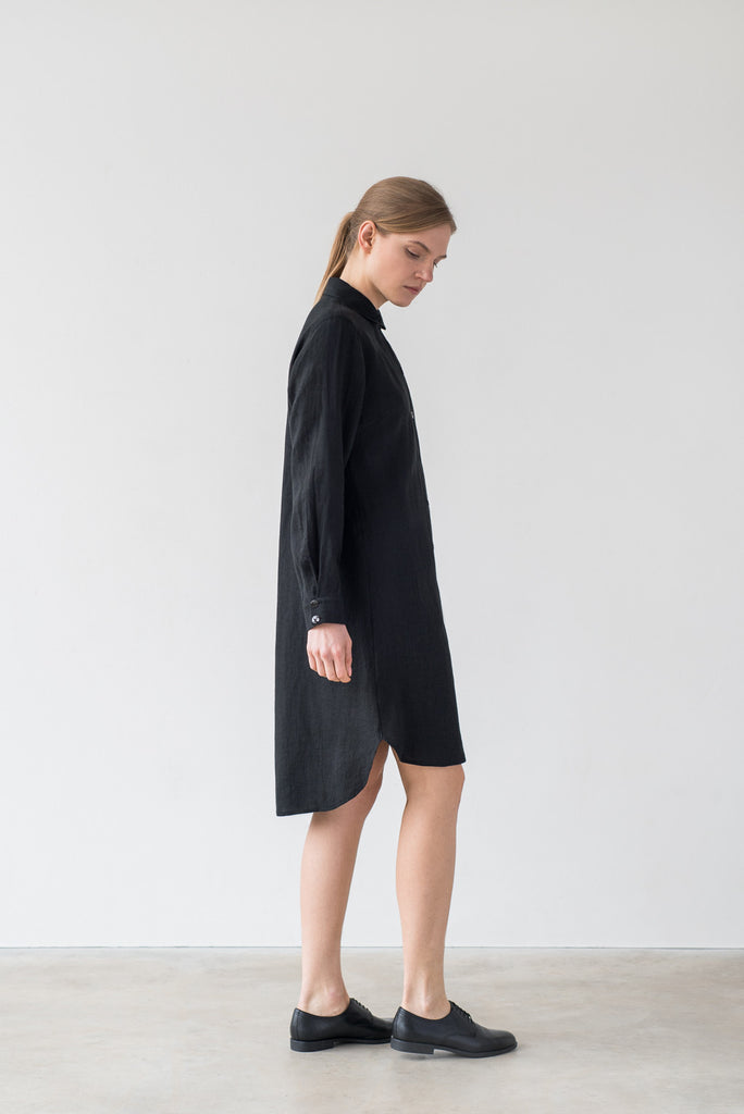 Ida shirt dress in black
