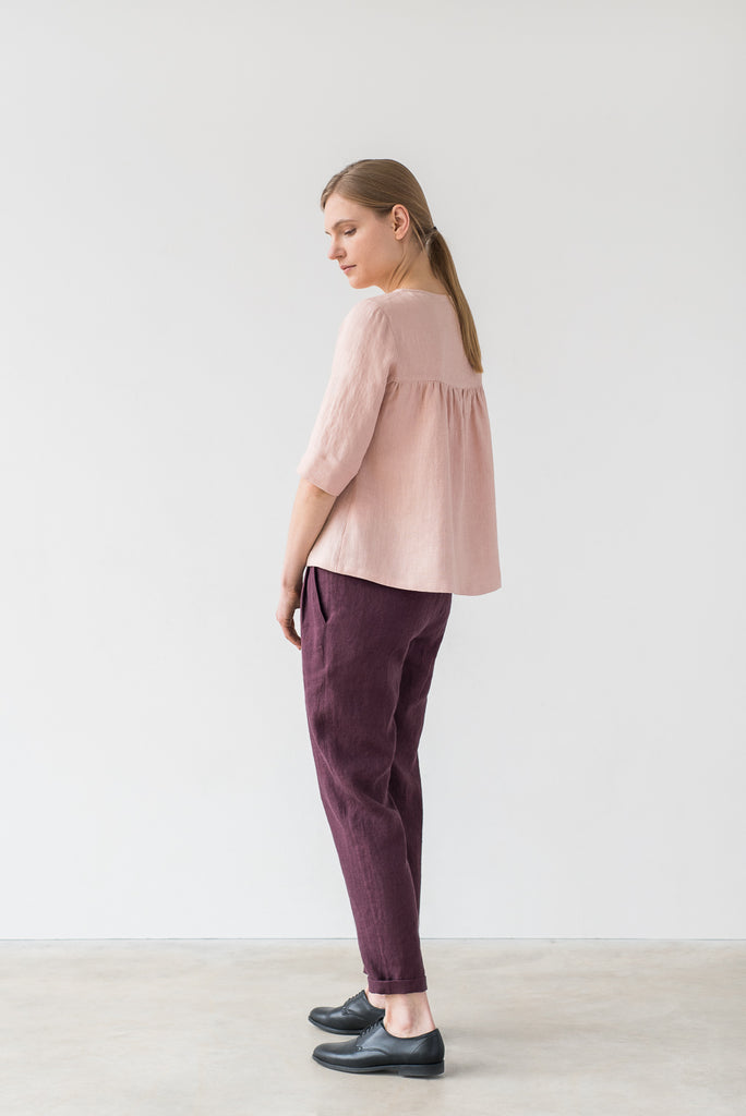 Frances top in light pink - Ode to Sunday