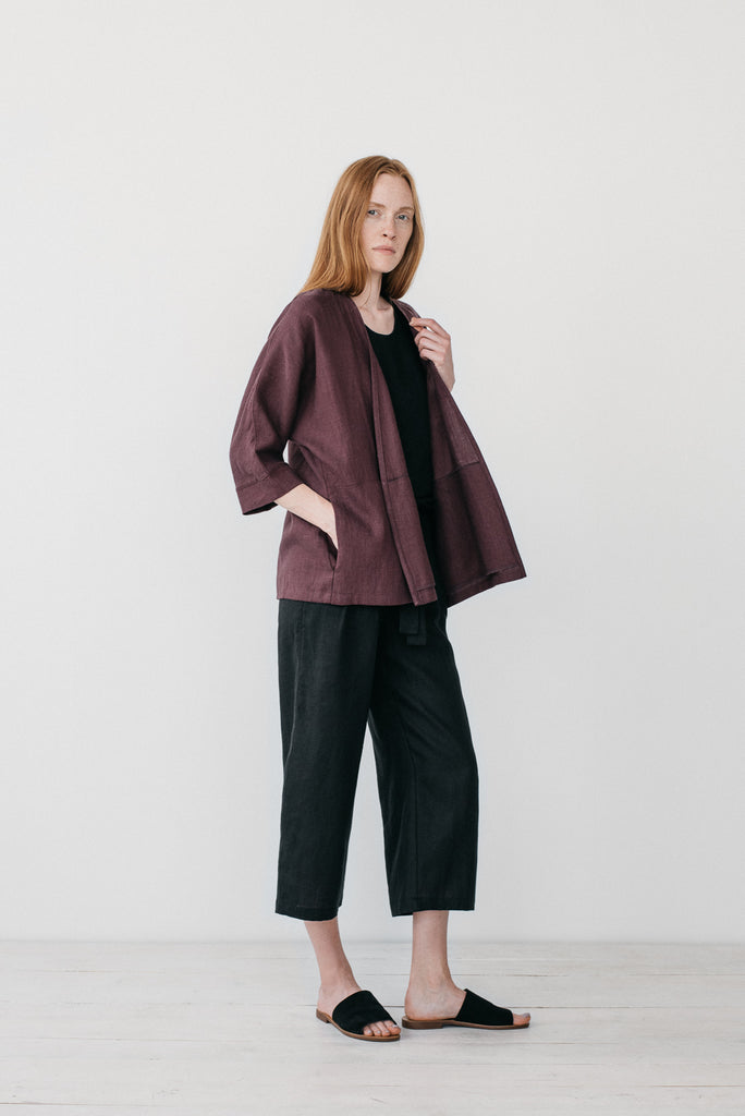 Erin kimono jacket in burgundy - Ode to Sunday