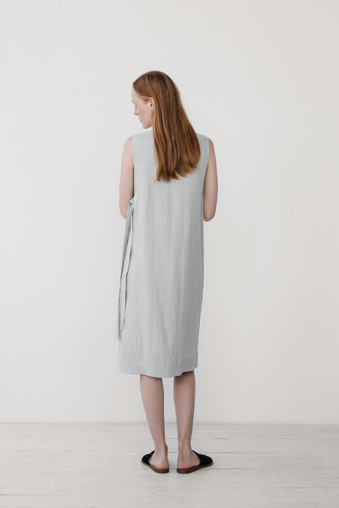 Zoe wrap dress in bluish gray - Ode to Sunday
