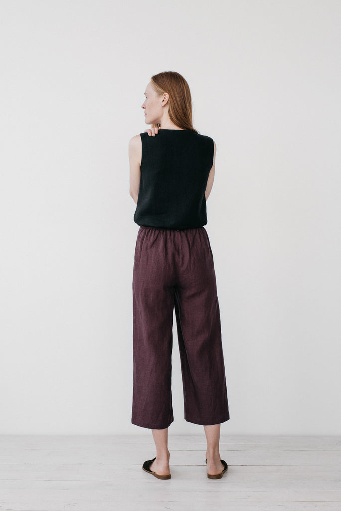 Camilla pants in burgundy - Ode to Sunday