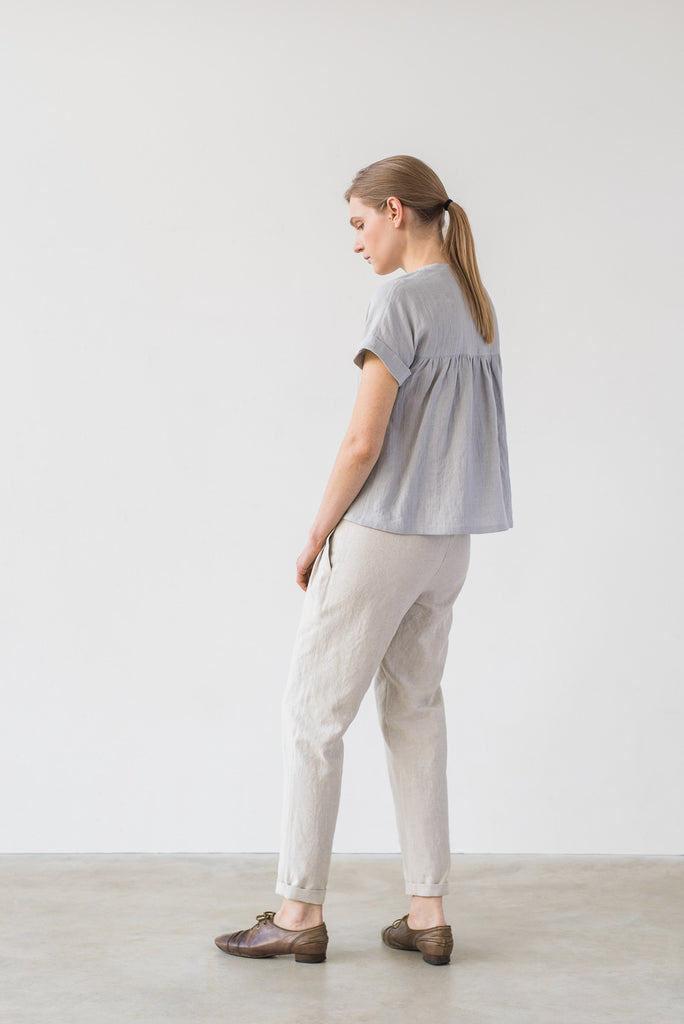 Yasmin blouse in bluish gray