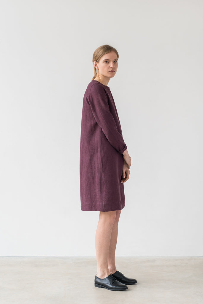 Elsa dress in burgundy - Ode to Sunday