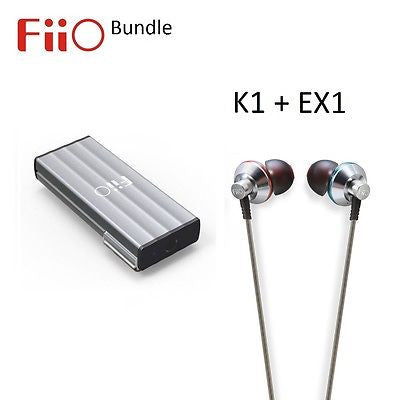 FiiO K1 Portable USB Headphone Amplifier/DAC + EX1 IEM Headphones BUNDLE - AV Shop UK - 1