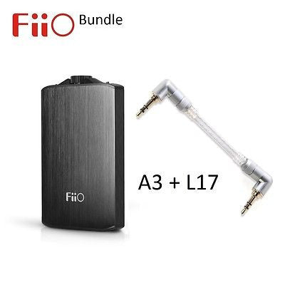 FiiO A3 USB Rechargeable Portable Headphone Amplifier and L17 Line-out Cable BUNDLE - AV Shop UK - 1