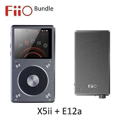 FiiO X5ii 2nd Gen Lossless (FLAC/WAV/MP3) DAP & E12a Headphone Amp BUNDLE - AV Shop UK - 1