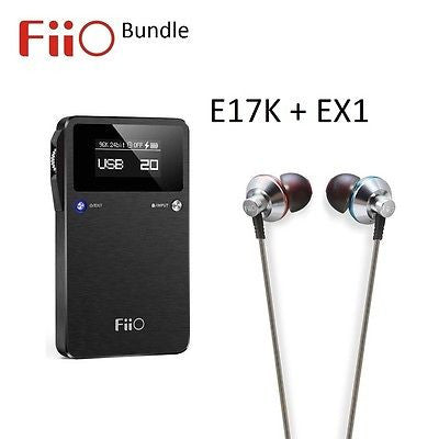 FiiO E17K 2 Portable Headphone Amplifier/DAC + EX1 IEM Headphones BUNDLE - AV Shop UK - 1