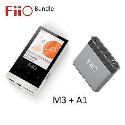 FiiO M3 Portable Lossless Music (FLAC/WAV/MP3) Player + A1 Headphone Amp BUNDLE - AV Shop UK - 1