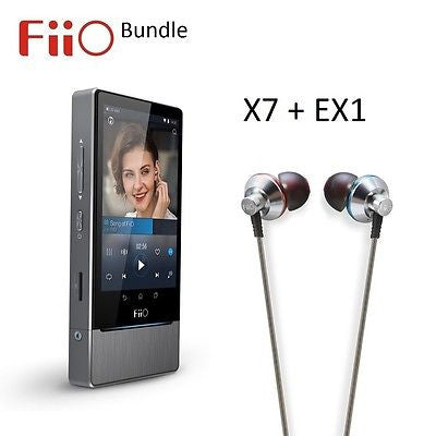 FiiO X7 Android Lossless (FLAC/MP3/DXD/PCM) DAP/DAC+EX1 IEM Headphones BUNDLE - AV Shop UK - 1