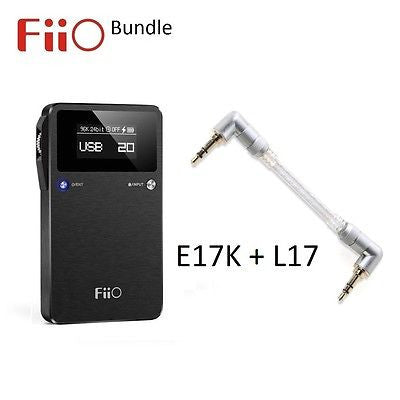 FiiO E17K Portable Headphone Audio Amplifier/DAC + L17 Line-out Cable BUNDLE - AV Shop UK - 1