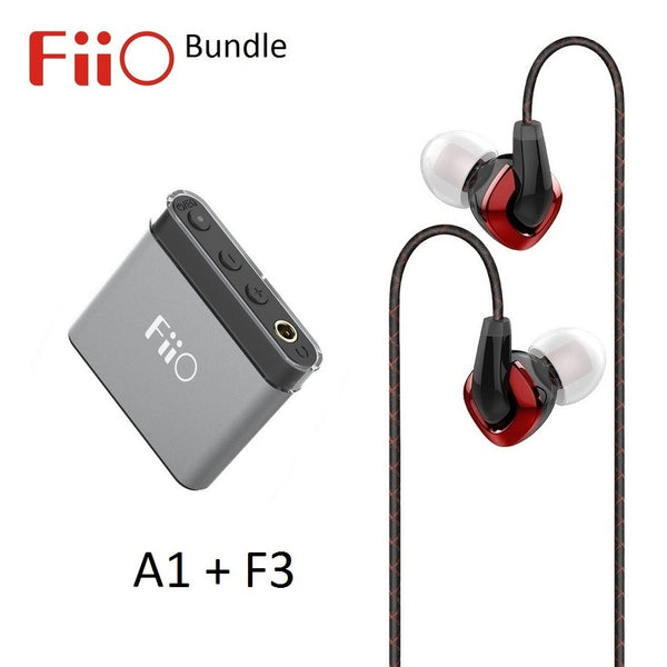 FiiO A1 Portable Headphone Amplifier with 3 EQ + F3 Dynamic IEM headphone BUNDLE