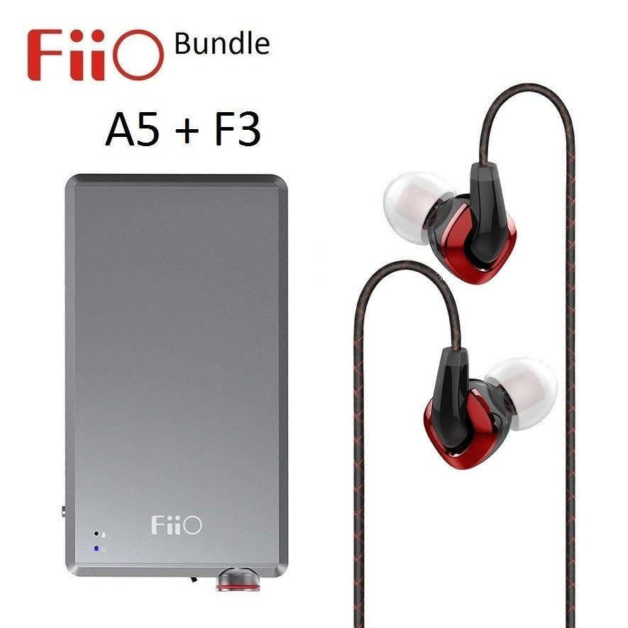 FiiO A5 Portable Headphone Power Amplifier + F3 Dynamic IEM Headphone BUNDLE